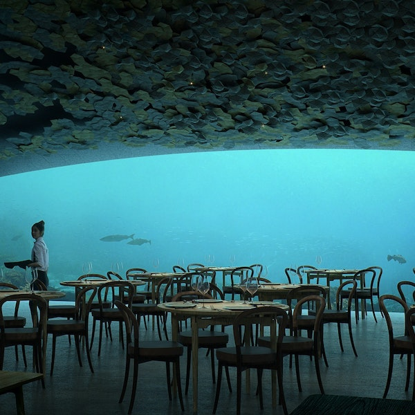 coming soon europe s first underwater restaurant afar. Black Bedroom Furniture Sets. Home Design Ideas