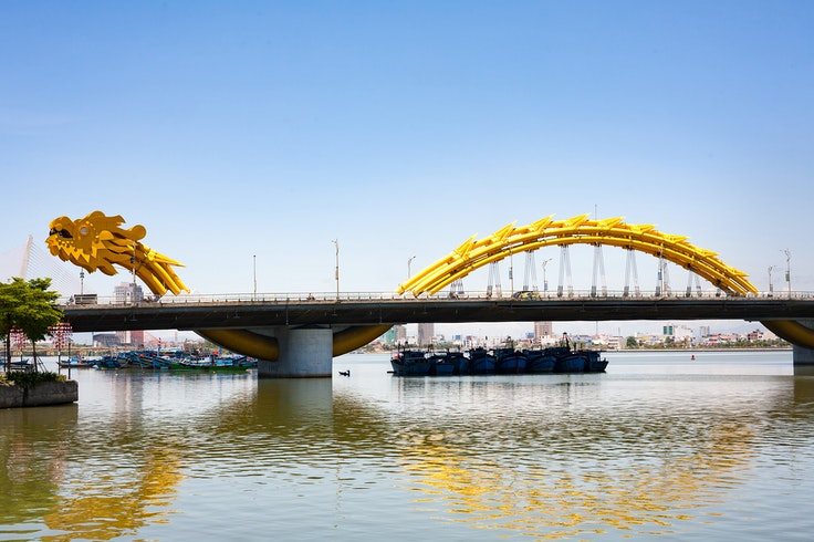 Opened in 2013, Da Nang's Dragon Bridge wows onlookers and symbolizes the newfound energy in this smaller Vietnamese city.