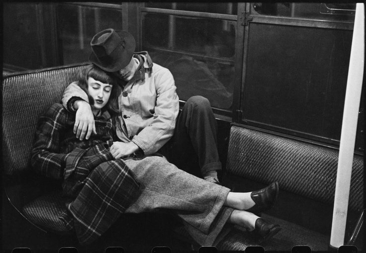 """Photoby Stanley Kubrick, from """"Life and Love on the New York City Subway,"""" 1947"""