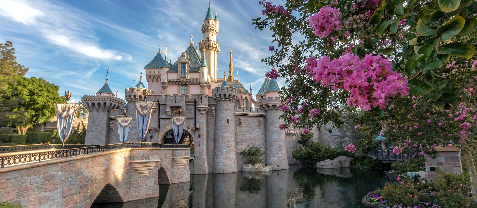 Serene moments outside Sleeping Beauty's Castle are rare but treasured occurrences.