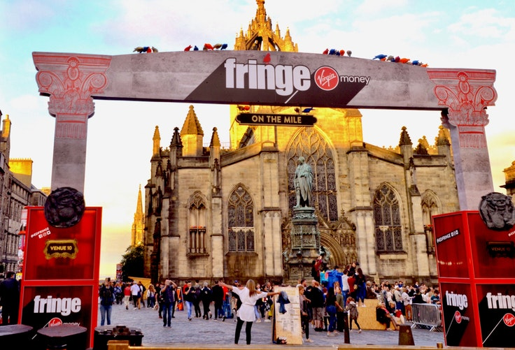 One of the Royal Mile entrances to the Edinburgh Festival Fringe