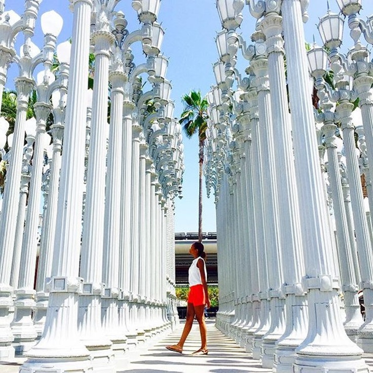 Urban Light at LACMA—one of the stops on Oh-So-Arty's Los Angeles tour