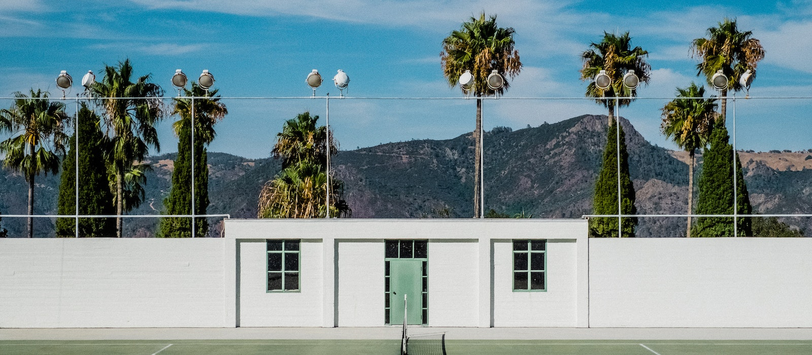 A Hearst Castle tennis court in San Luis Obispo County, California