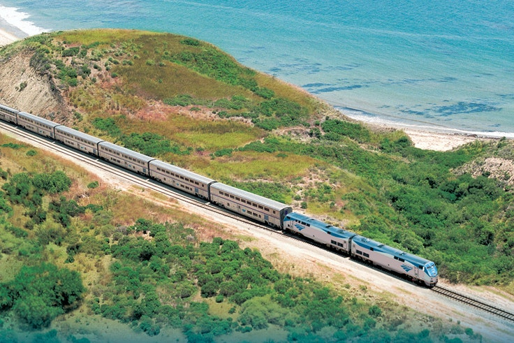 Two people can travel overnight between Los Angeles and Portland on the scenic Coast Starlight for less than $400 during this sale.