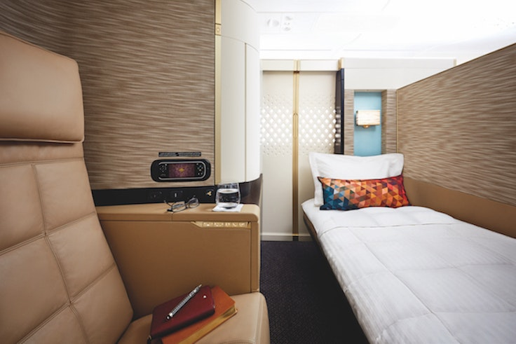 """Eithad Airways' first class """"apartments"""" are like luxuriousprivate bedrooms"""