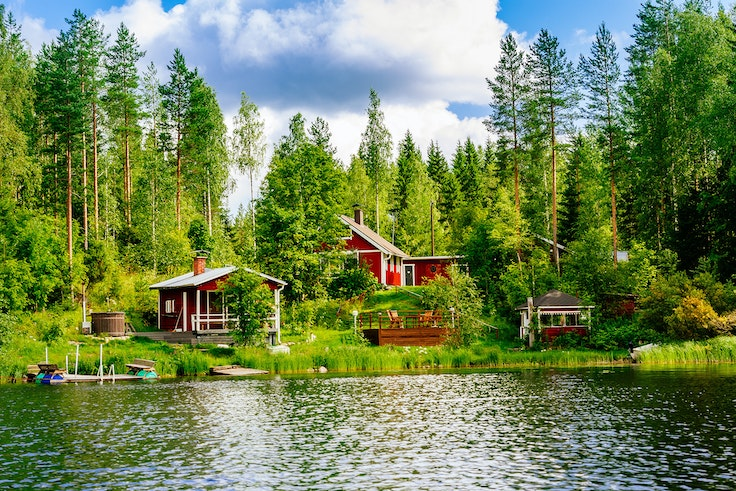 With more than 3 million saunas and landscapes as pretty as this, it's no wonder Finland is the happiest country in the world.