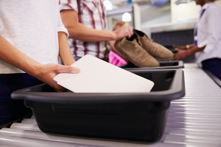 With TSA PreCheck, travelers can leave their shoes on and their personal devices in their bags when going through security.