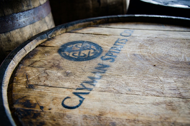 Cayman Spirits Co. ages its Seven Fathoms Rum in casks that once held Maker's Mark.