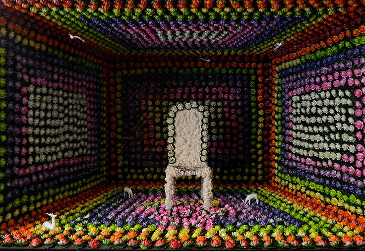 Blossoming Dark, an installation at the Swatch Art Peace Hotel in Shanghai by artist Kitty Von-Sometime
