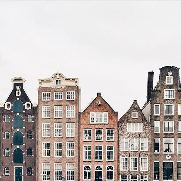 Winter and the architecture in Amsterdam make a lovely pair
