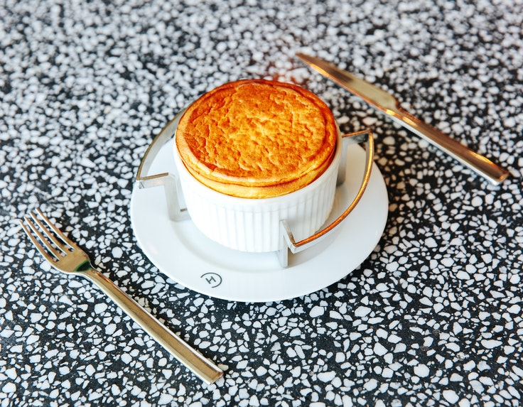 The soufflé plays a starring role in many Parisian menus, including at Alain Ducasse's Champeaux, a contemporary brasserie.