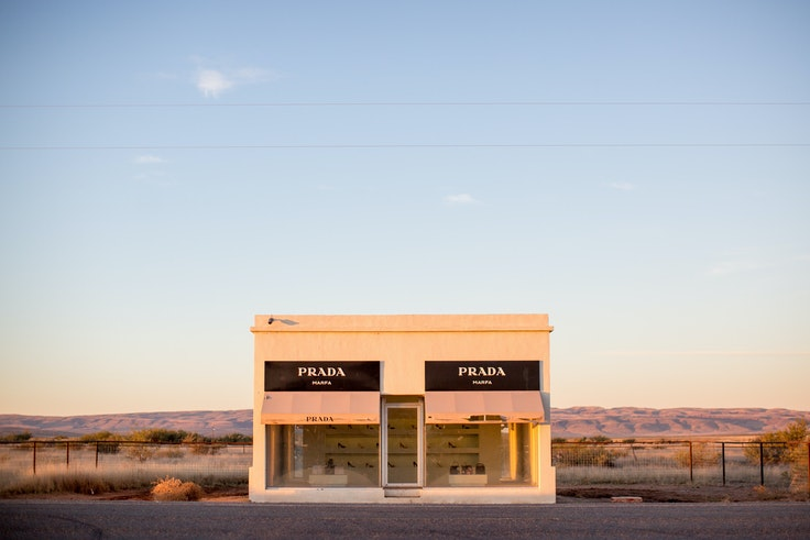 Prada Marfa may look best in your rearview mirror.