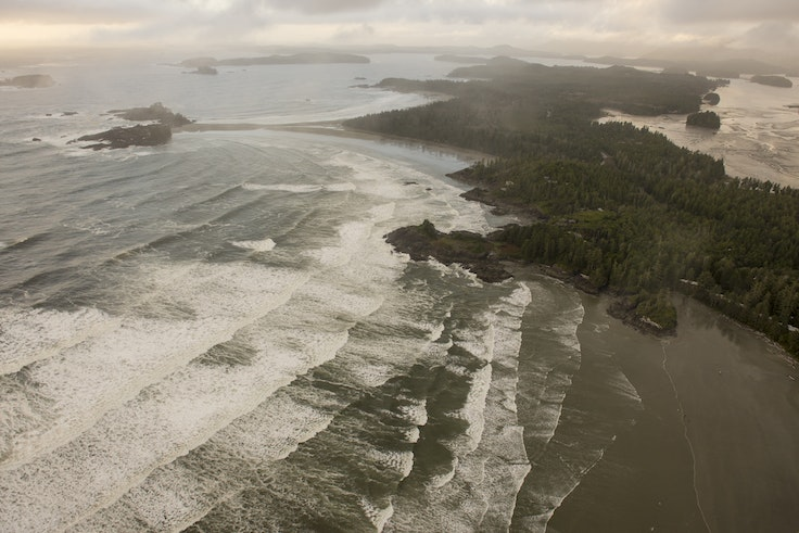 British Columbia's small surf town at Tofino, on Vancouver Island, beckons foodies with ample opportunities for foraging, fishing, and feasting.