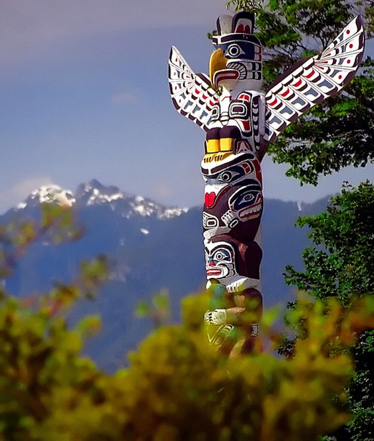Totem poles at Brockton Point in Vancouver