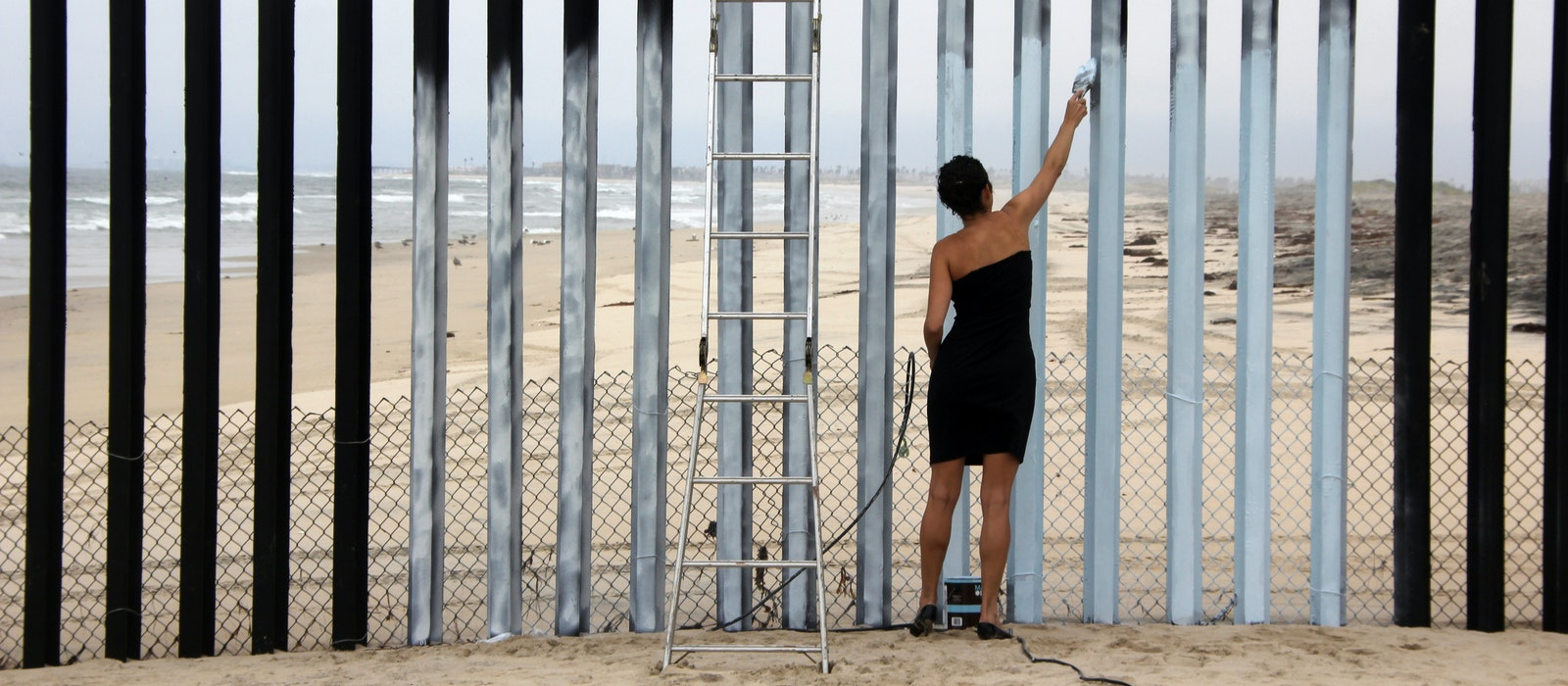 "Ana Teresa Fernandez's ""Borrando la Frontera, 2011"" sought to make a statement by ""erasing"" the border between the United States and Mexico in Tijuana."