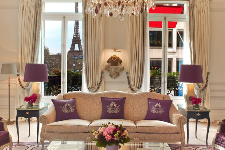 Yes, you can actually see the Eiffel Tower from your window at the Plaza Athénée in Paris.