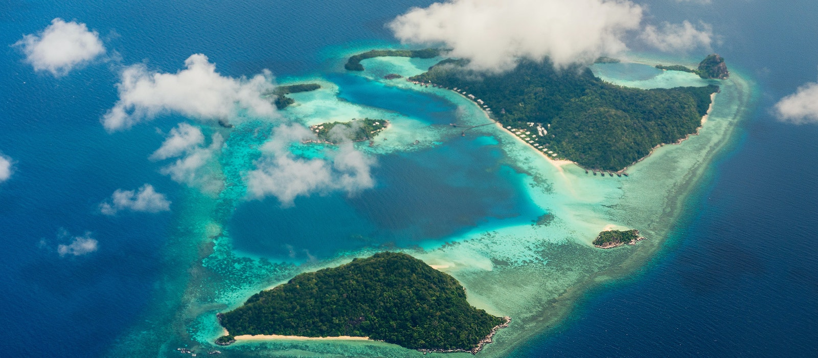 The Bawah Reserve consists of six private islands in the Anambas Archipelago in Indonesia.
