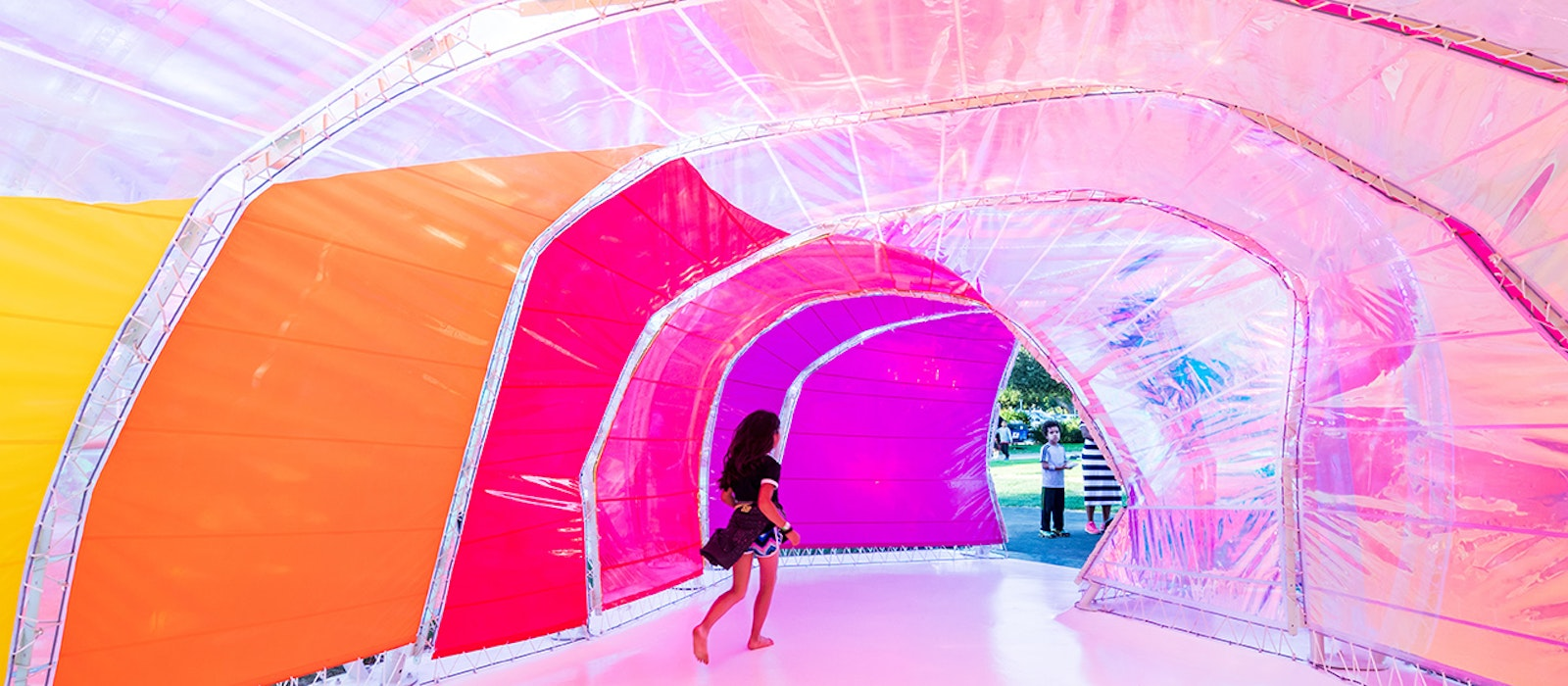 The Second Home Serpentine Pavilion: a whimsical addition to the Miracle Mile neighborhood