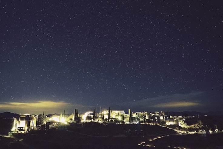 Arcosanti at night
