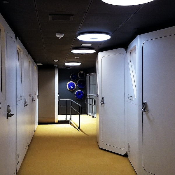 How a New American Capsule Hotel Compares to Japan's Famous Sleeping Pods