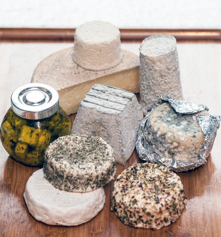 A spread of Yang's cheeses, including Beijing Grey