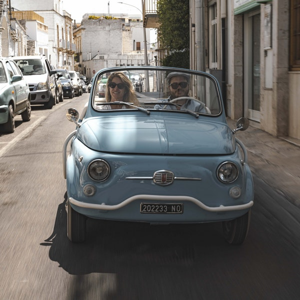 "Make Your ""Roman Holiday"" Dreams Come True With a Luxe Fiat 500 Rental"