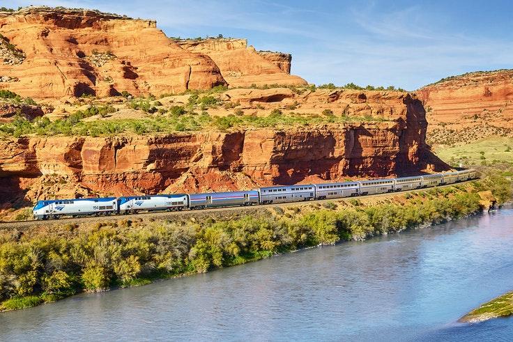 Ride such iconic trains as Amtrak's California Zephyr on this epic train journey.