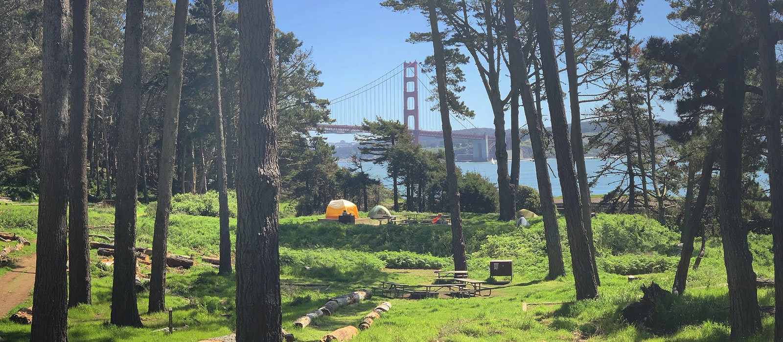 One of the best views in San Francisco is from the Kirby Cove Campground.