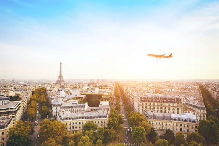 Travel booking site Hopper predicts flights to Paris could be as low as $400.
