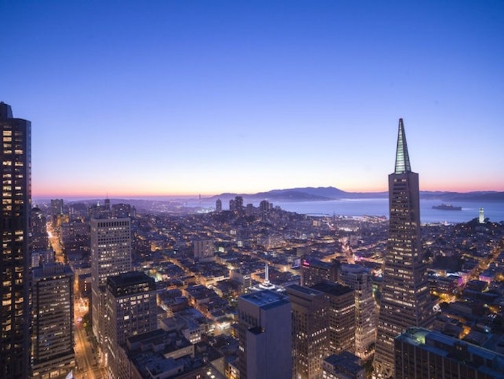 The view from the Loews Regency San Francisco