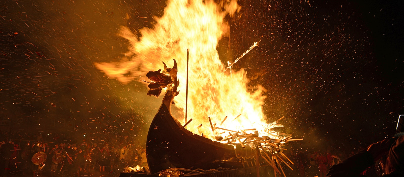 The festival rituals are rooted in Norse Yuletide traditions.