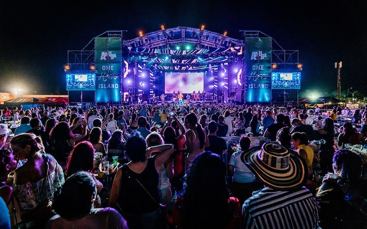 The Aruba Music Festival brings three nights of Latin beats and soca music to the island.
