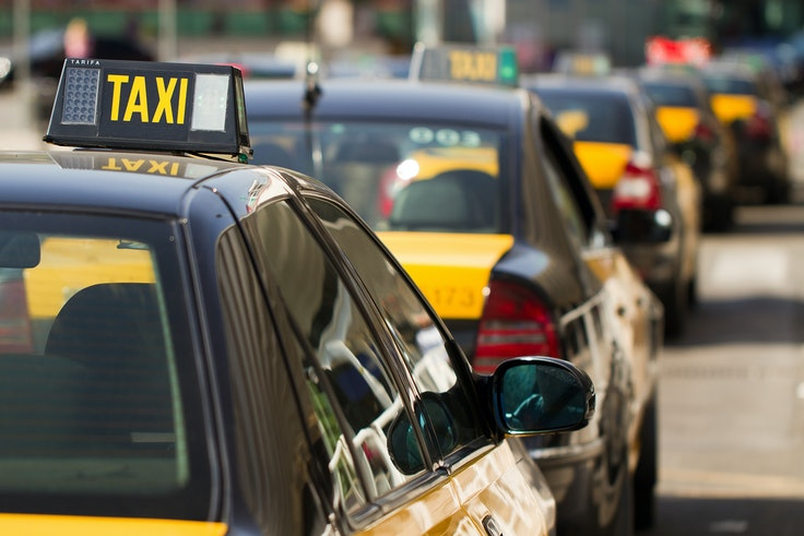 The taxi strike began in Barcelona last week against competition from ride-sharing apps.