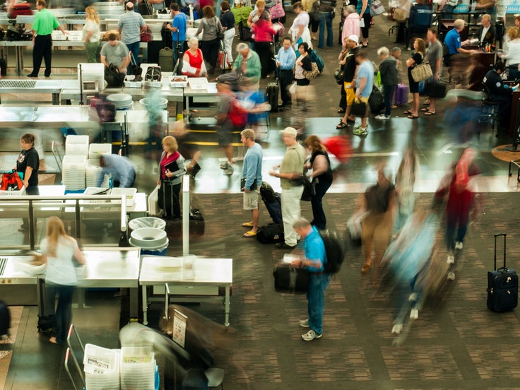 Currently, when airport security lines start to get backed up, TSA will often allow non-PreCheck travelers to hop over to the PreCheck lane.