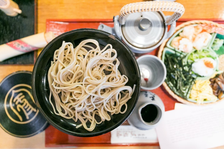 Soba noodles have been pleasing palates in Japan since the 16th century. Today, you can sample some of the best at Honke Owariya, a restaurant that has been serving soba in Kyoto for more than 500 years.