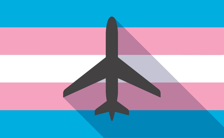 The Transgender Pride Flagconsists of five horizontal stripes: two light blue, two pink, and one white.