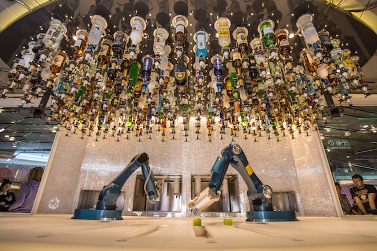 On Royal Caribbean's new Anthem of the Seas, enjoy a cocktail made by a robot.