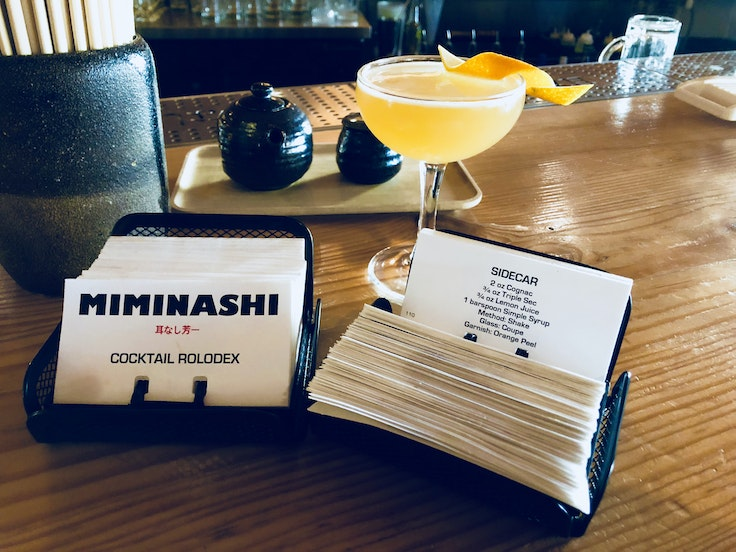 Along with a ton of whiskey options, try one of the cocktails at downtown Napa's Miminashi.