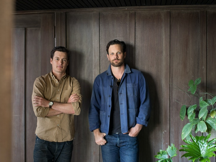 Brothers Adam and Andrew Mariani (right) founded Scribe Winery in 2007.