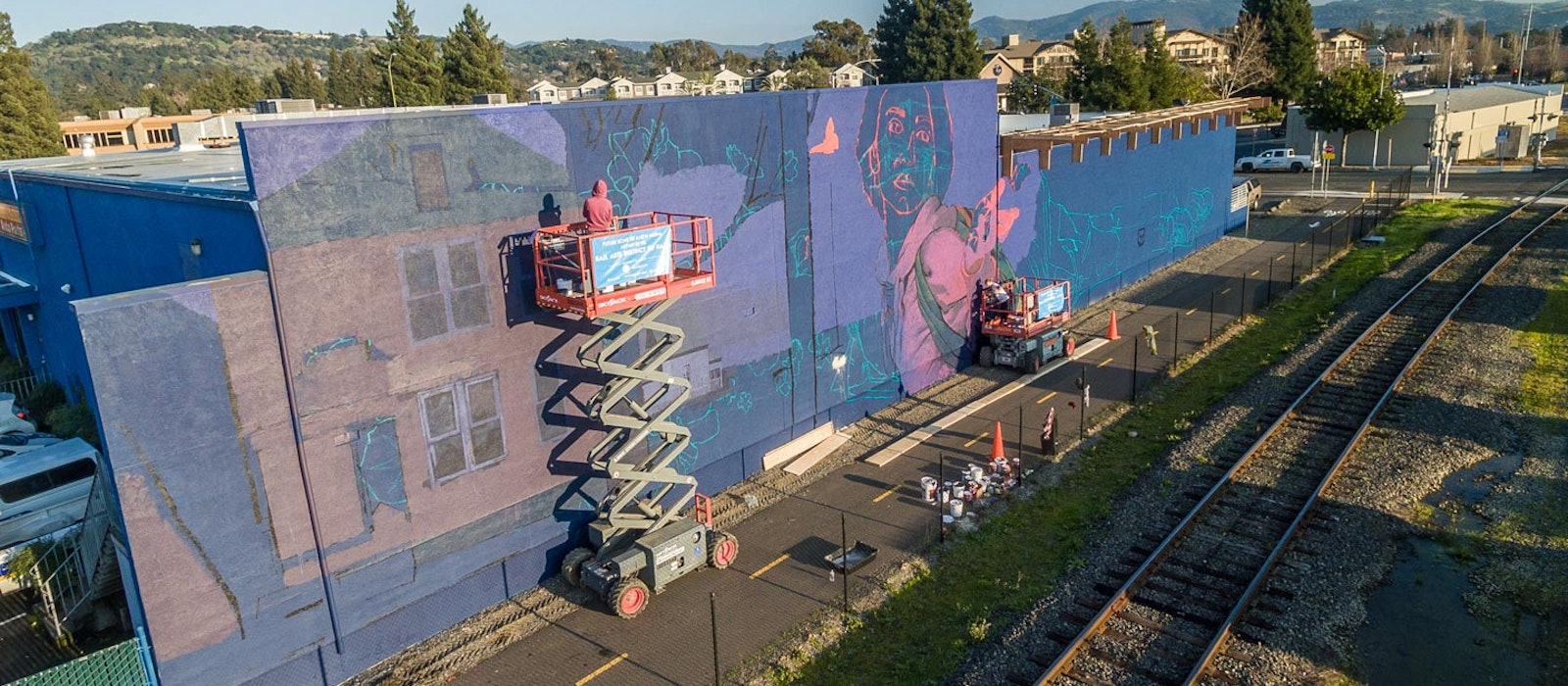 Napa's new arts district is bringing color to the city's rail corridor.