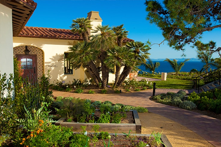 The entrance to mar'sel at Terranea Resort