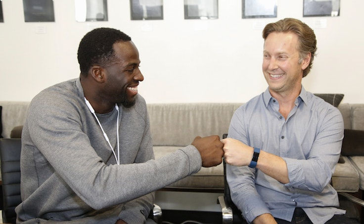 Draymond Green, left, plays HotelTonight exec for a day with CEO Sam Shank, right.