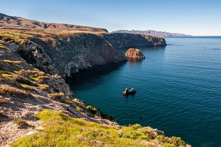 Channel Islands National Park encompasses five islands off the southern coast of California.