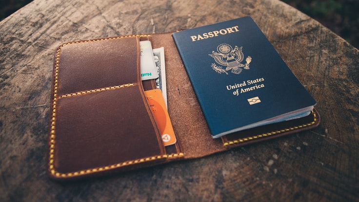 Be thehit of your next customs checkpoint with the Excursion passport holder from Neat Leather Co.