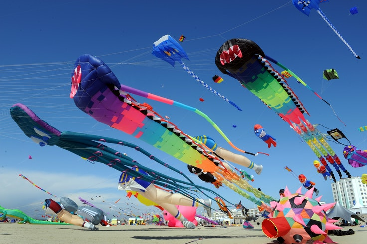 Kites from all over the world will fly in a French seaside town in April.