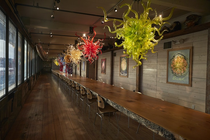 Dale Chihuly/Evelyn Room Chandeliers/The Boathouse, Seattle, 2017