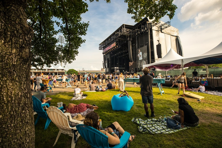 Governors Ball includes massages and elevated viewing areas among its VIP offerings.