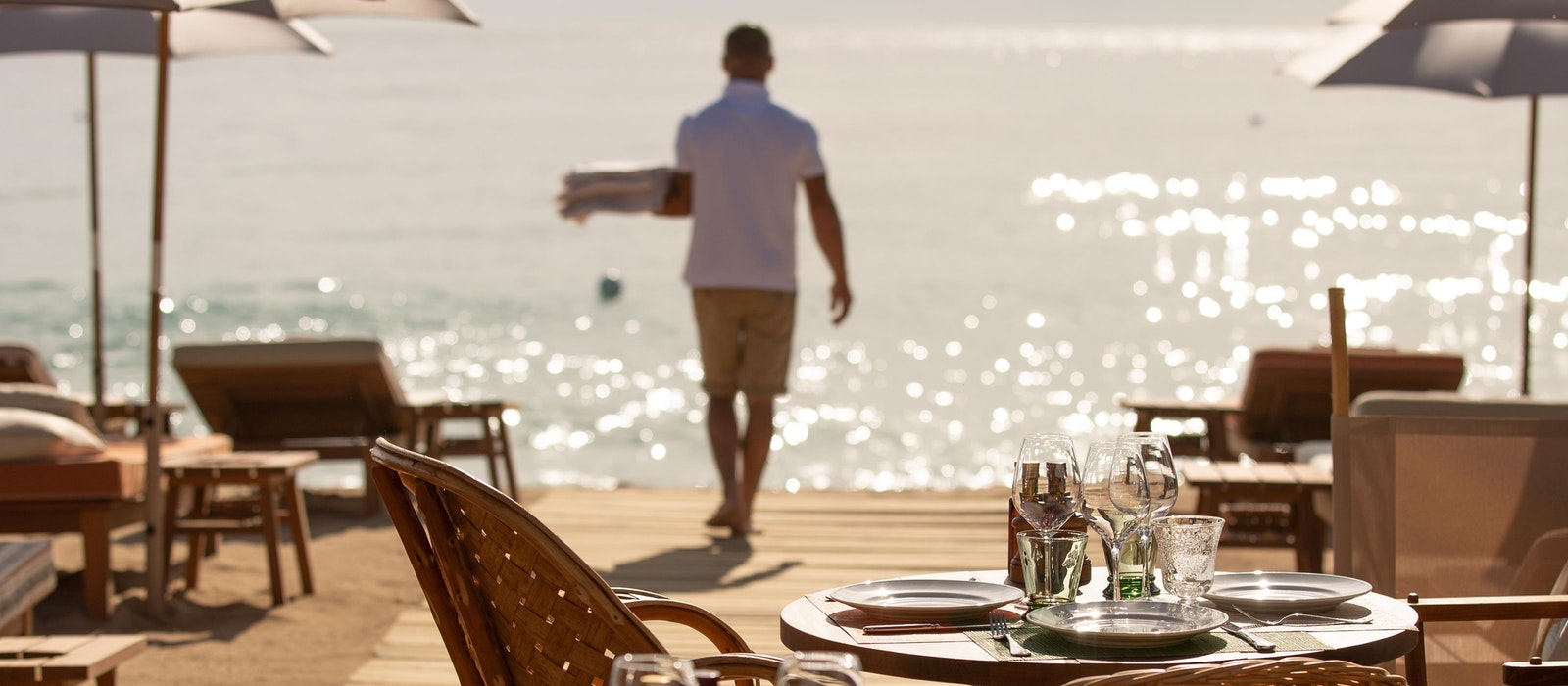 Find a table at La Réserve, order a glass of rosé, and watch the sun go down, St. Tropez-style.