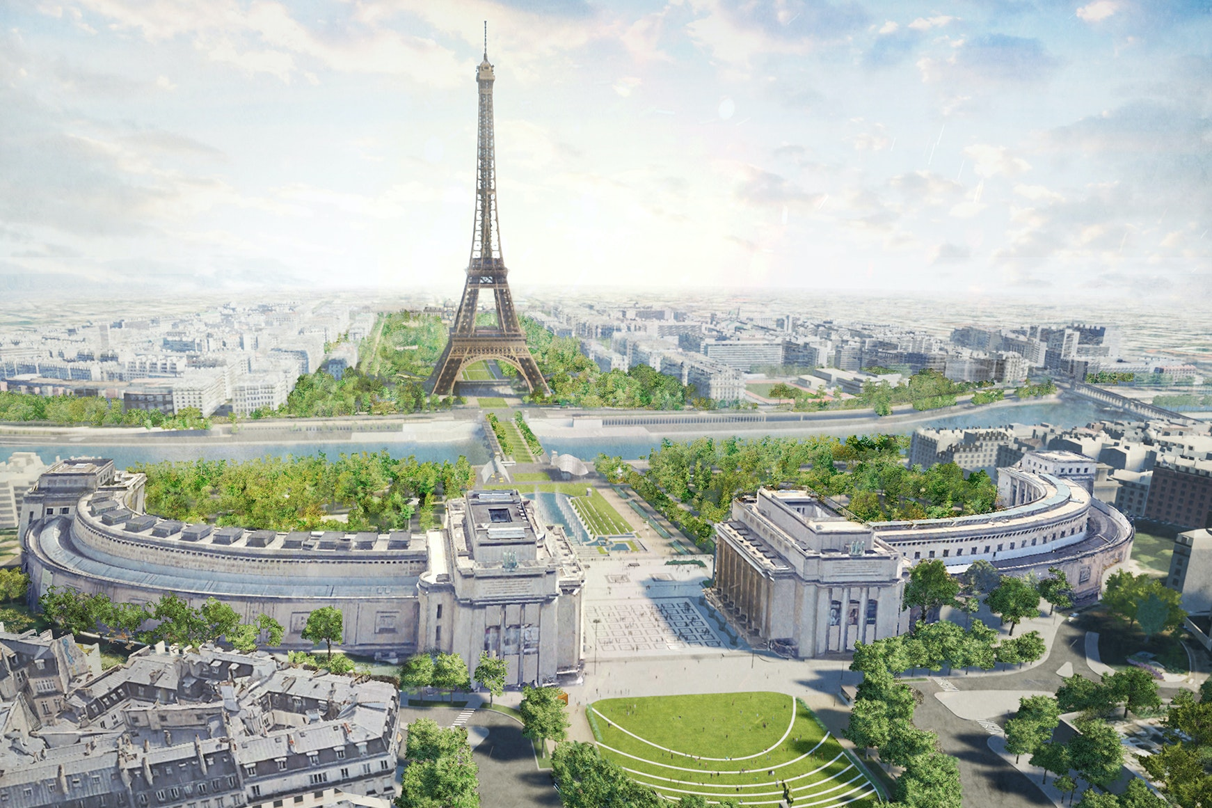 Oui, the Eiffel Tower Is Getting a Huge New Park