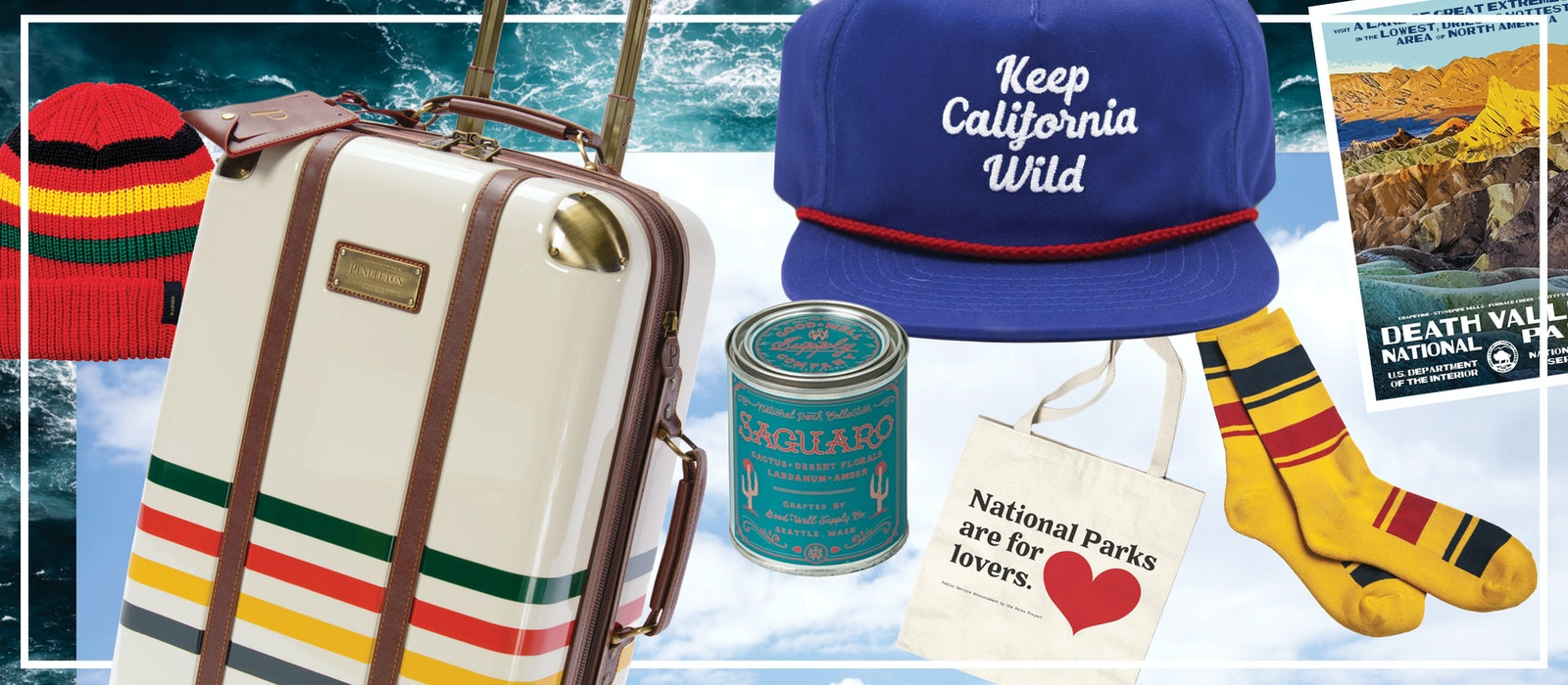 Sales from all of the items seen here help support national parks in the United States.
